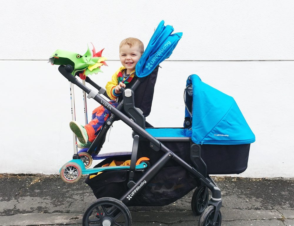 Using Our Uppababy Vista As A Double Pushchair For A