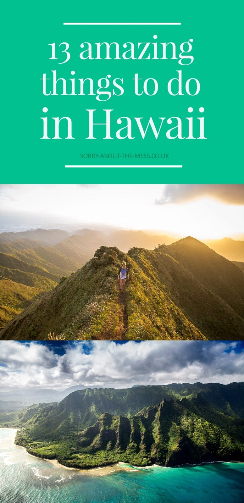13 amazing things to do in Hawaii. From volcanoes, big waves, wildlife, and dramatic scenery, this is an excellent Hawaii bucket list.