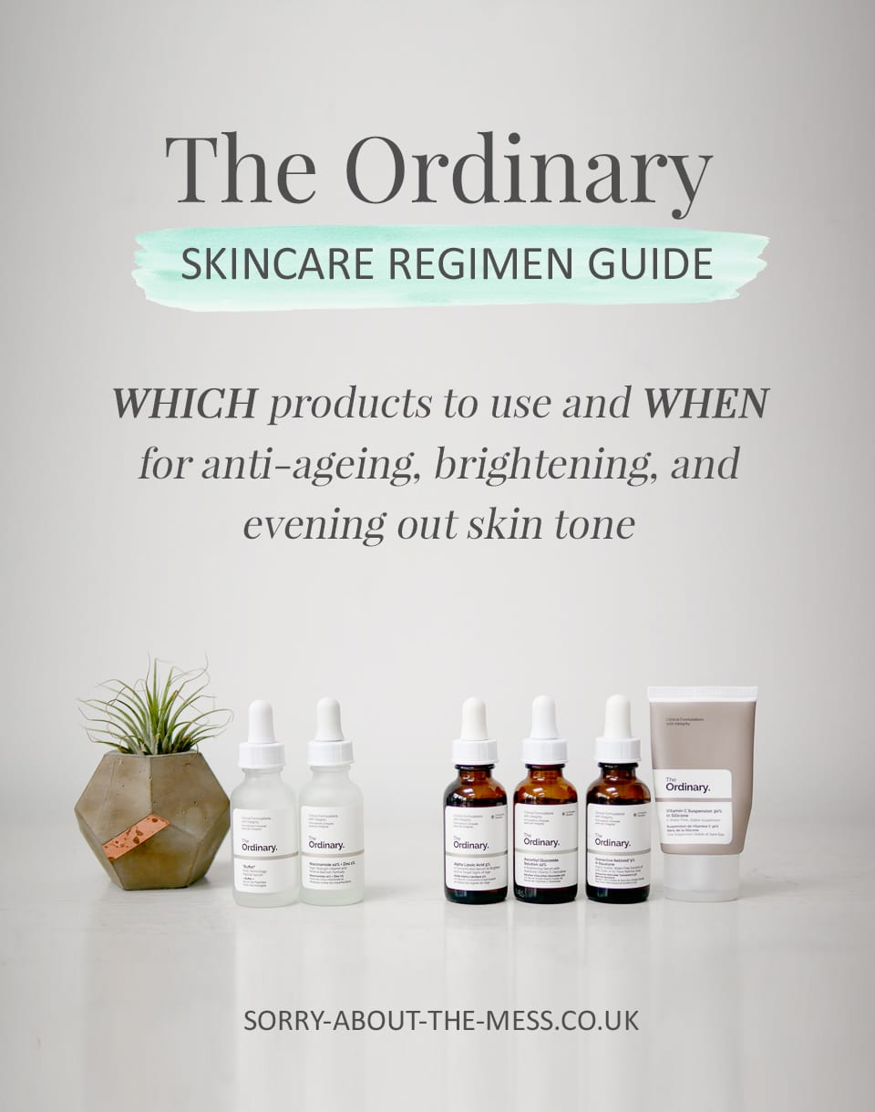the ordinary skincare regimen guide which products to use